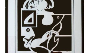 Kneeling-Cubist-Girl-in-Frame-on-white-border-for-web-no-glare