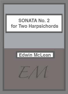 Sonata No. 2 for Harspichord cover